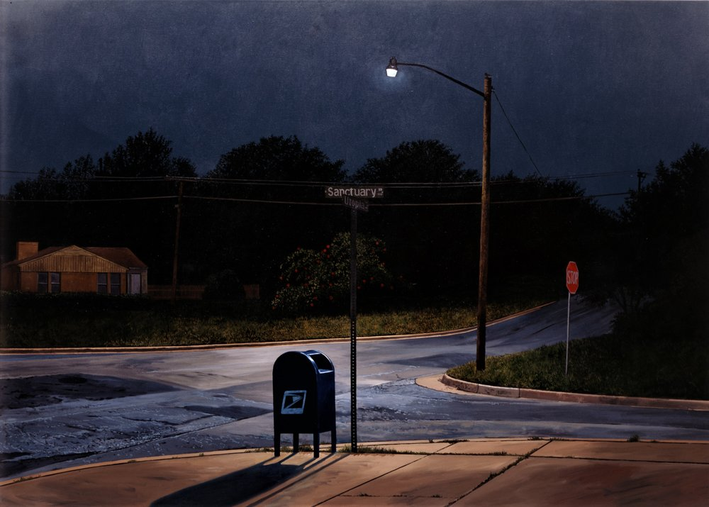 Daniel Blagg,  The Whippoorwill,  2000, oil on canvas, 60 x 84""