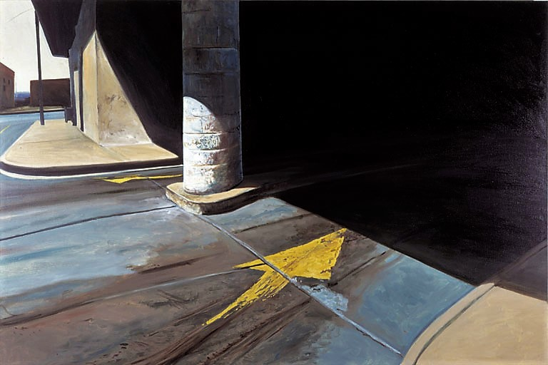 Daniel Blagg,  Parking Garage #3 , 1978, oil on canvas, 60 x 90""
