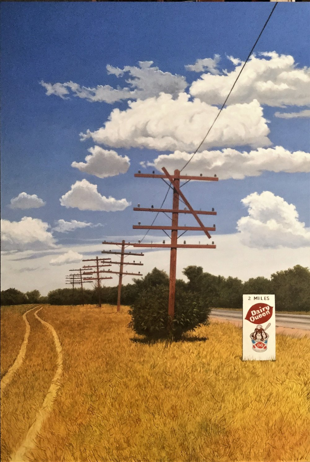 Daniel Blagg,  Down the Line , 2017, oil on canvas, 58 x 38""