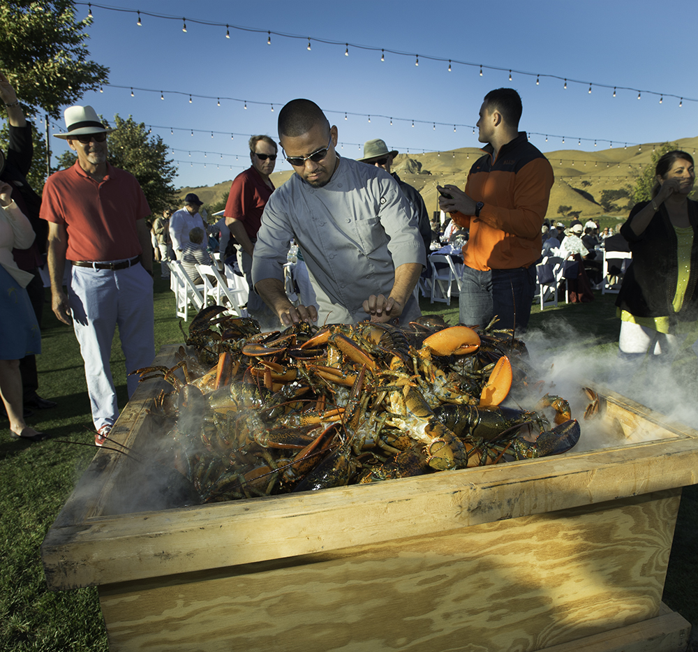 Sam's Chowder House preps the steaming lobster