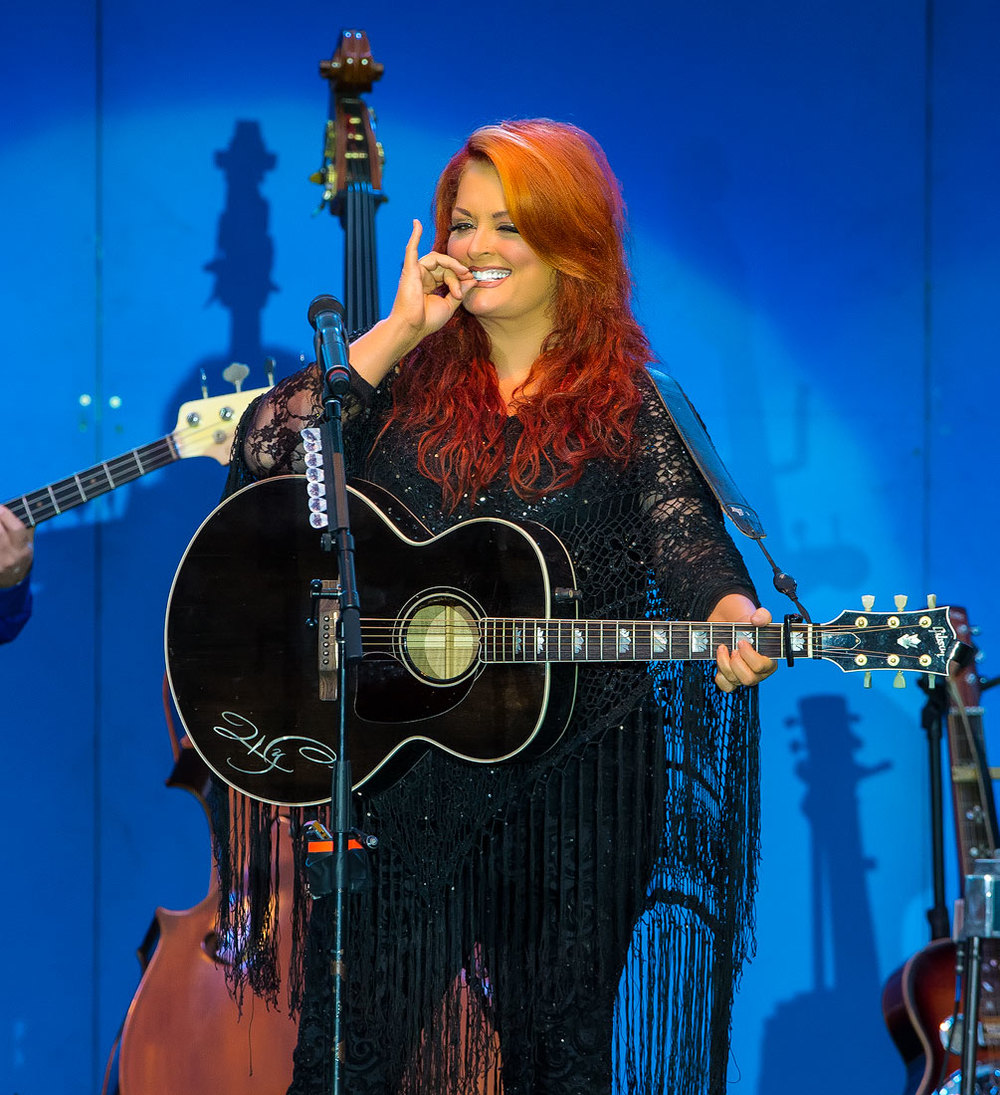 Wynonna performing at the Wente Winery in Livermore.