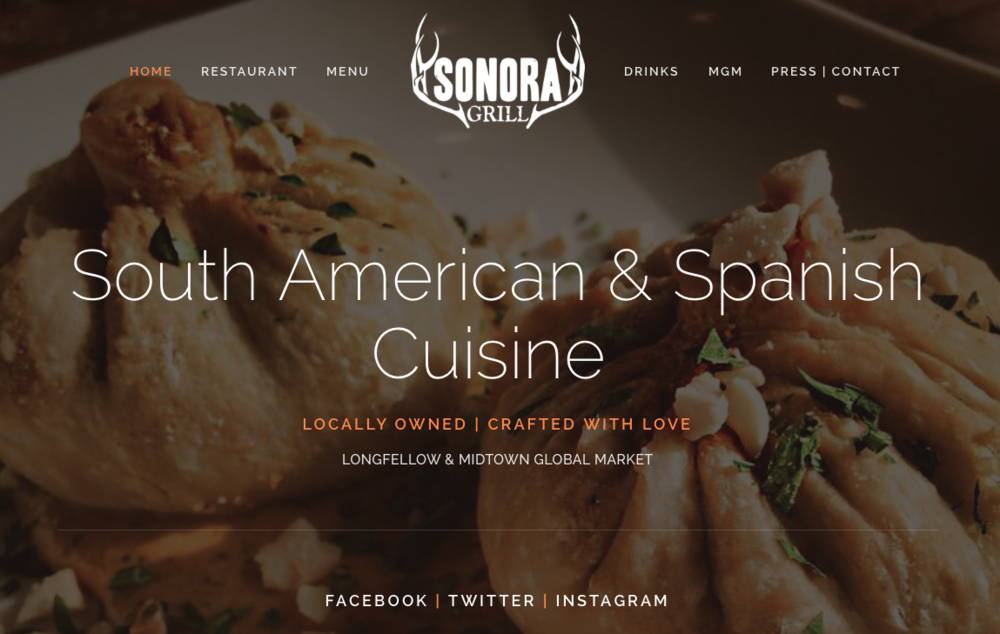 Website building/branding/photography* - SONORAGRILLMPLS.COM