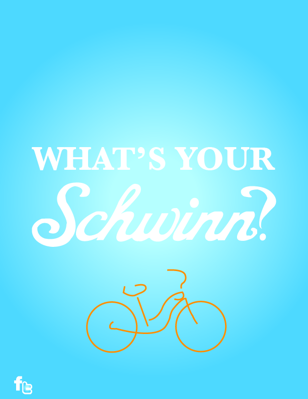 Creative Typography - Customer reviews recreated into the Schwinn bikes they love.