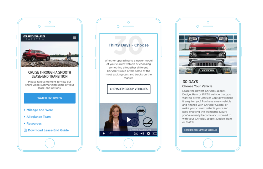 With such a high percentage of traffic coming to the microsite from mobile, I designed this experience to be fully responsive and mobile-first.