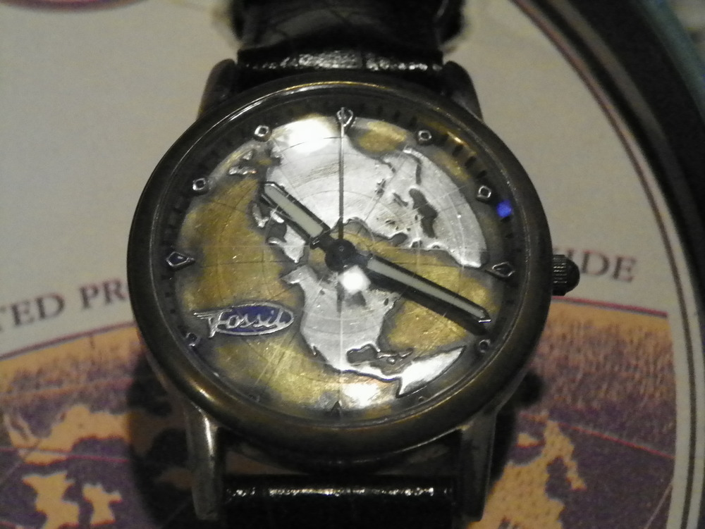 Fossil Airplane Watch Planet Fossil Le-9452 Watch