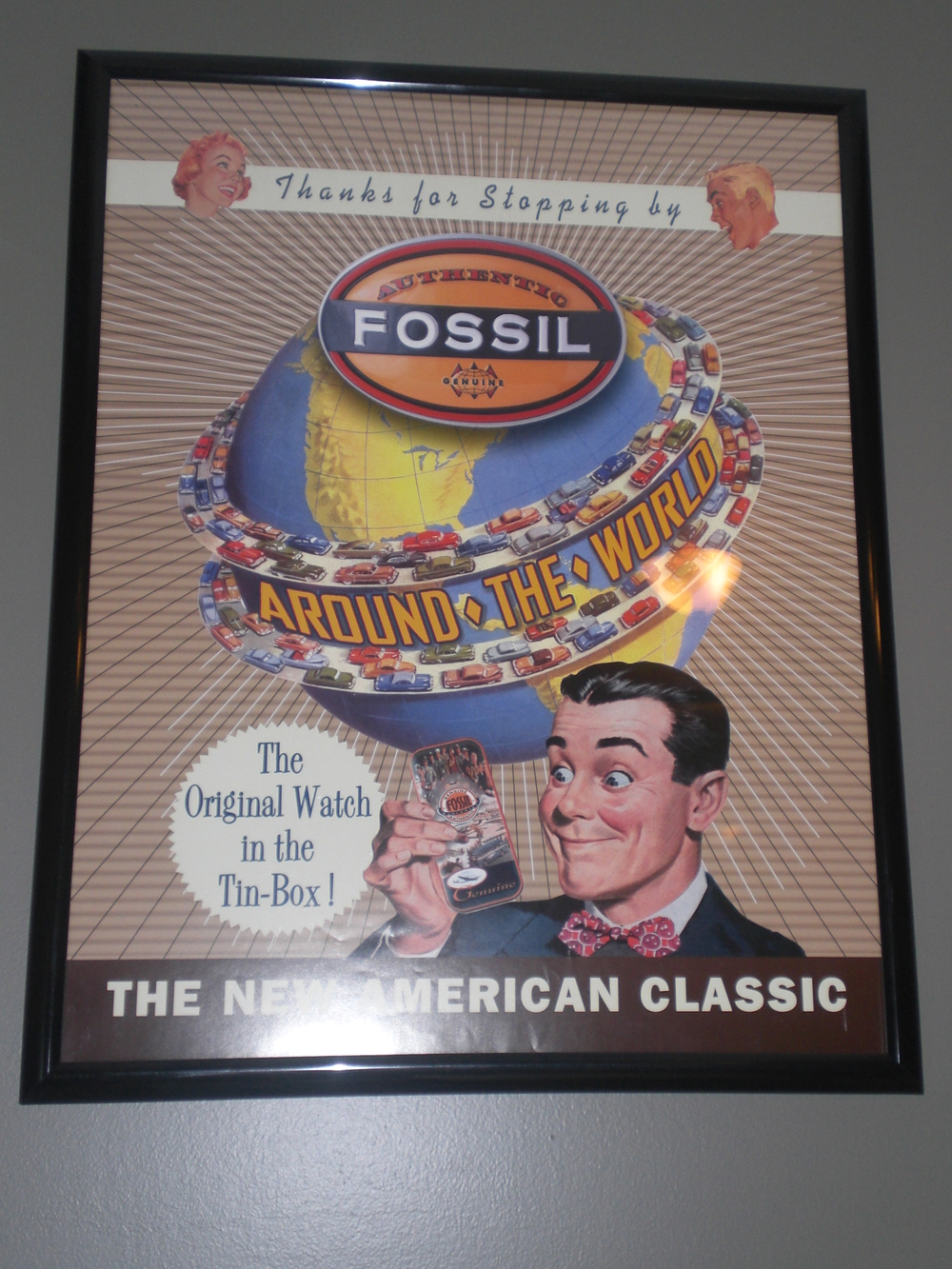 The only Fossil poster hanging in my office