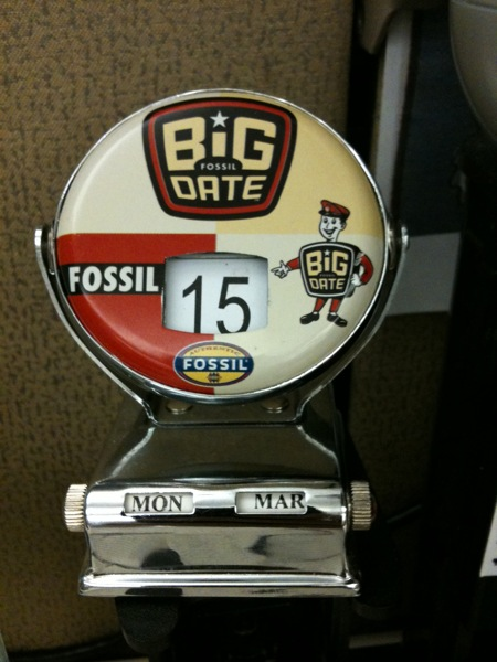 Fossil Big Date flip calendar