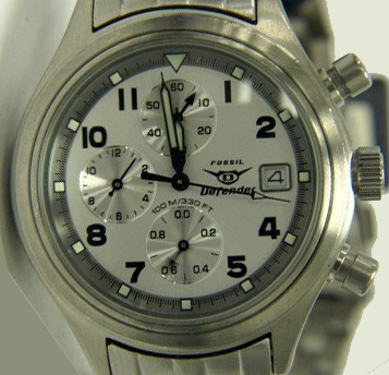 DF-1006 Men's Stainless Style Chronograph. Matching Metal Band. Case Size: 38mm