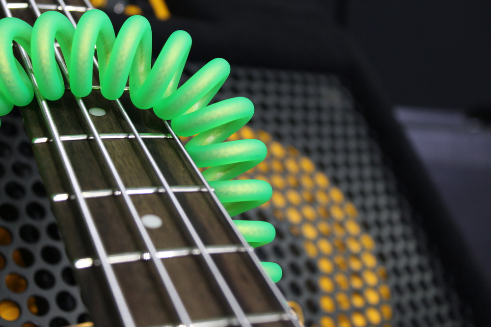 4-string Precision Bass with Green IMK Coiled cord