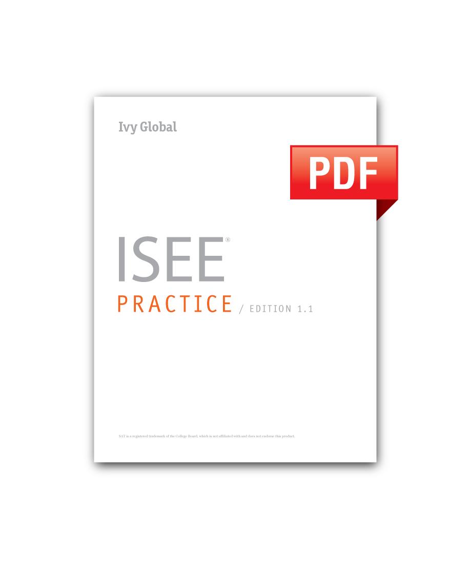 ISEE Practice (PDF)