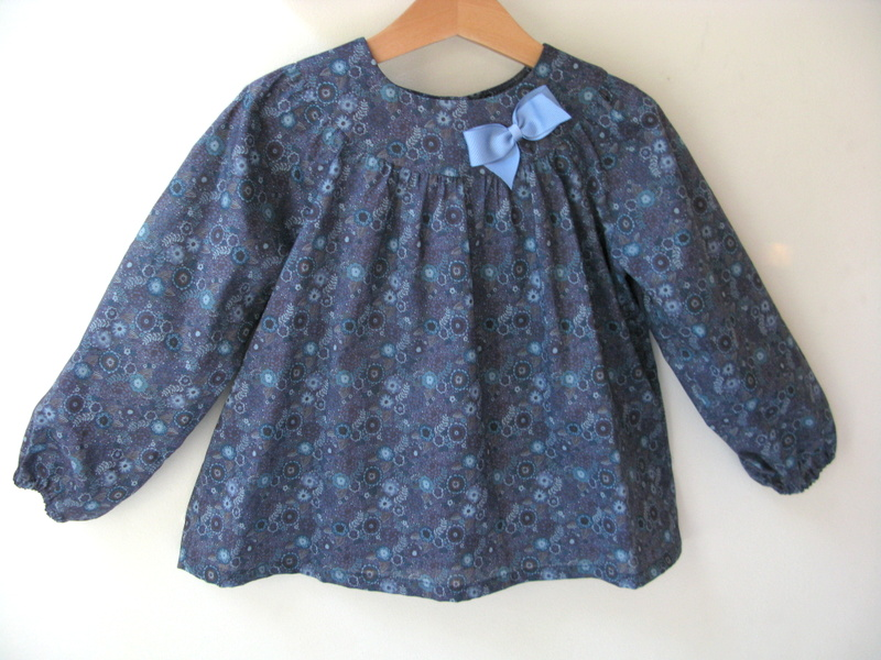 Reiko blue Liberty print blouse   Available in large