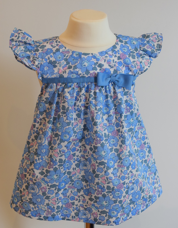 Betsy blue Liberty print ruffle sleeve top    Available exclusively in size small £31