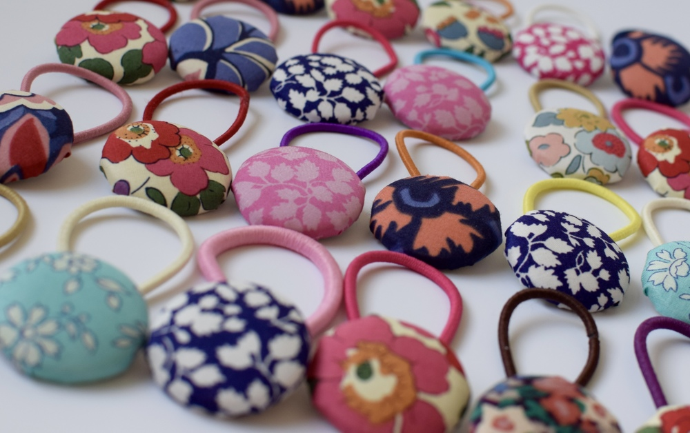 SS16 Liberty print hair ties