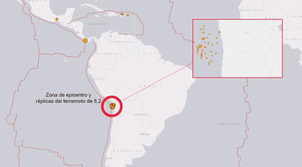 Terremoto en chile en Ambher.com