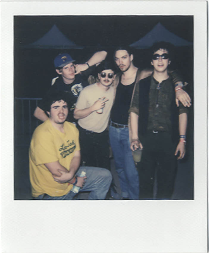 Twin Peaks  (minus Jack) after their set at Fader Fort,  Photo: Nat Leonard