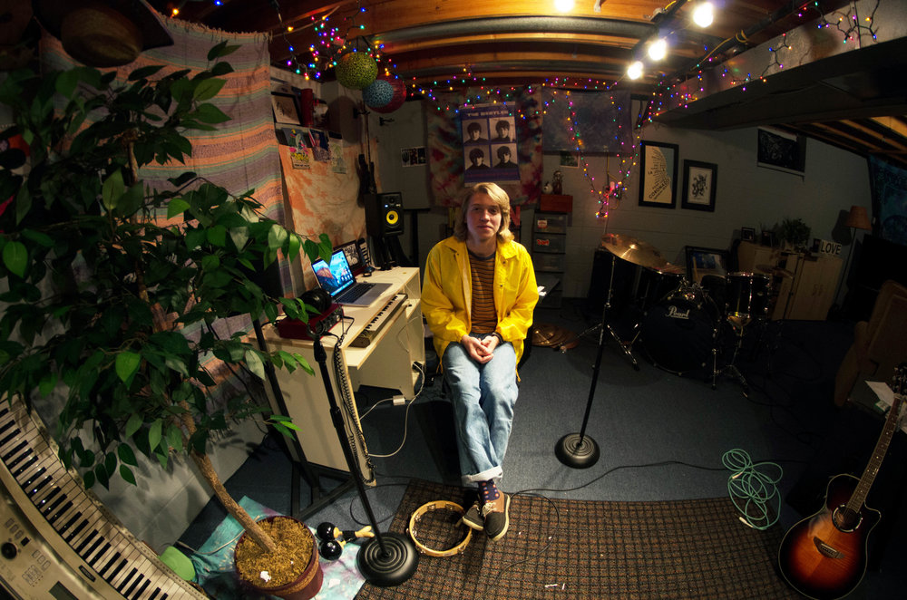 "Thomas ""Modern Nomad"" McLean in his basement studio. Photo: Emma Mattson"