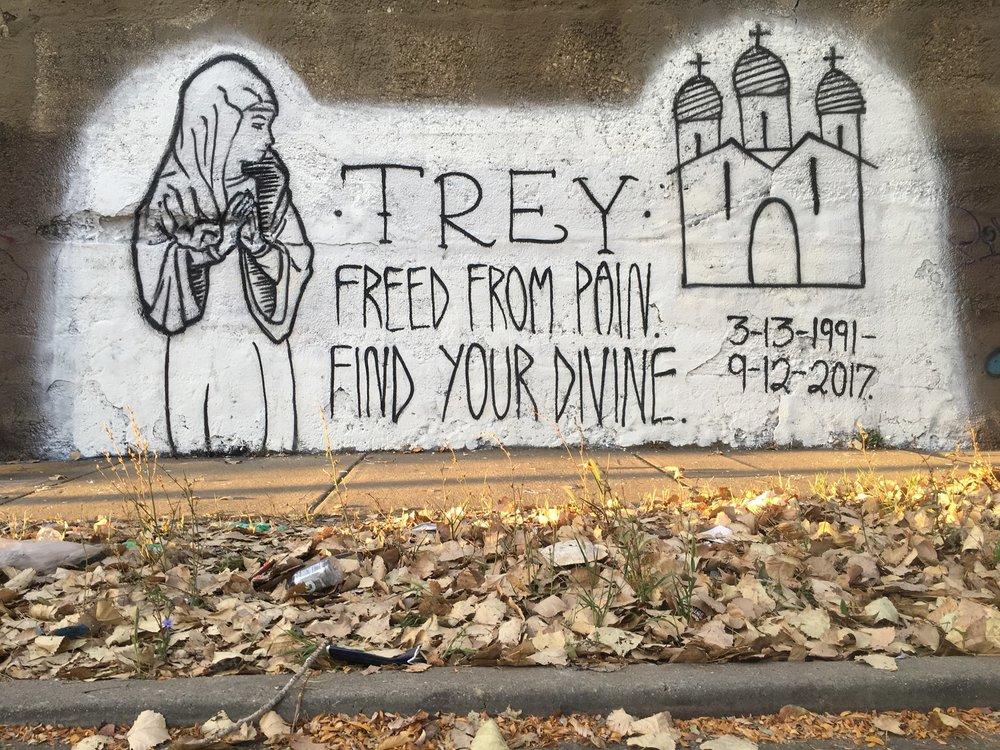Mural for Trey in Pilsen by Ryan Polli & friend