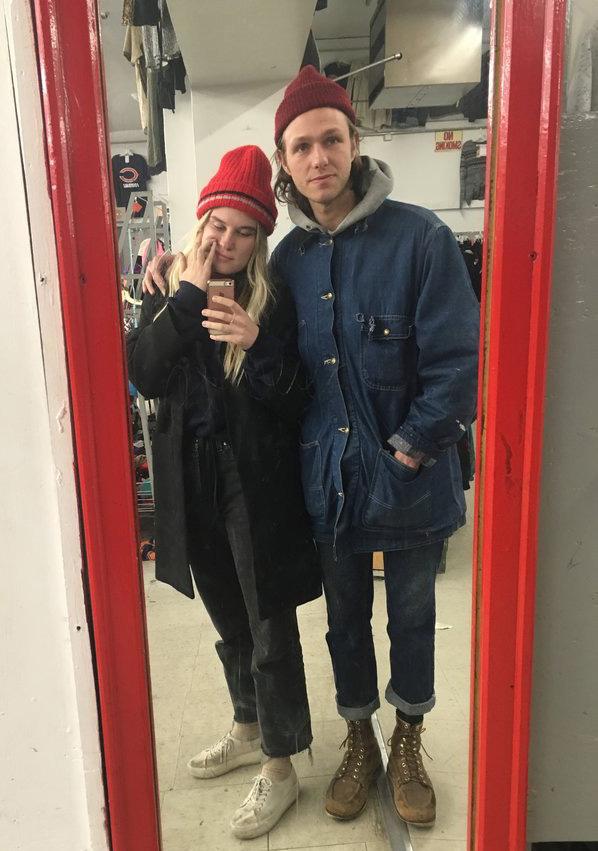 Trey and Jessica Viscius at Village Discount