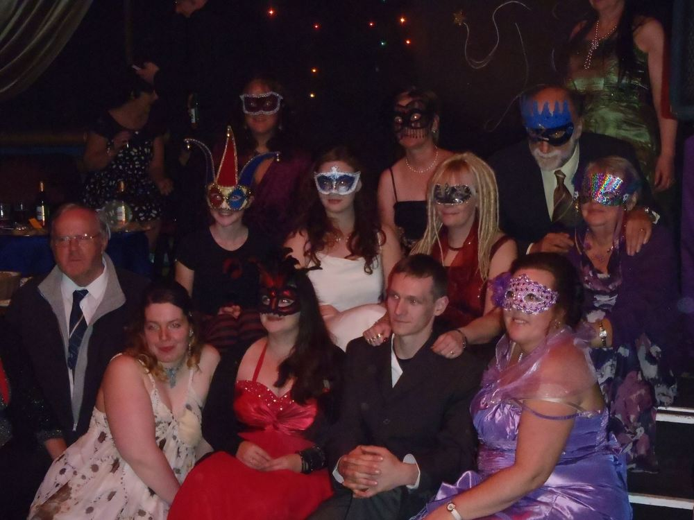 A few of our volunteers dressed up at our Masked Ball Evening.