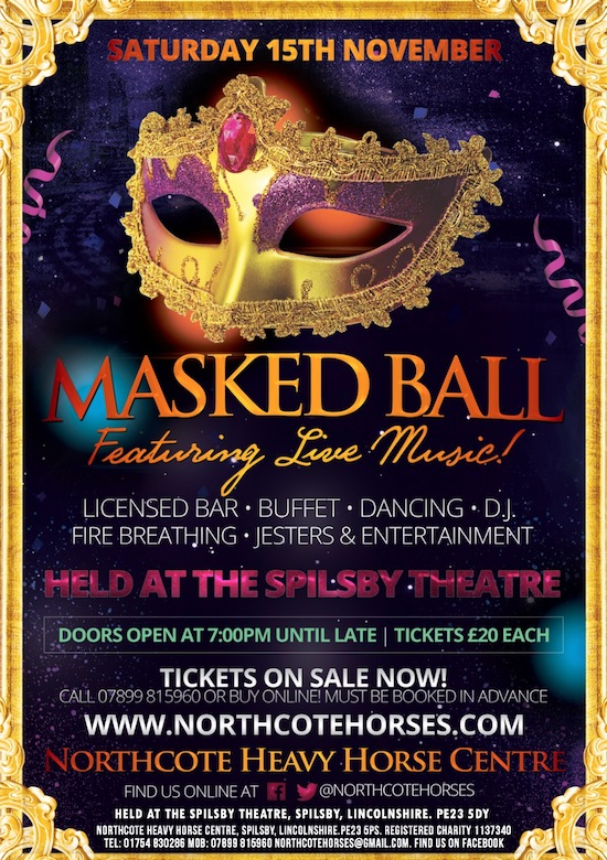 Masked Ball Evening at the Northcote Heavy Horse Centre in Lincolnshire