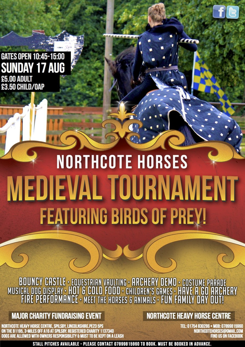 Medieval Poster Northcote Heavy Horse Centre Attraction Lincolnshire.jpg