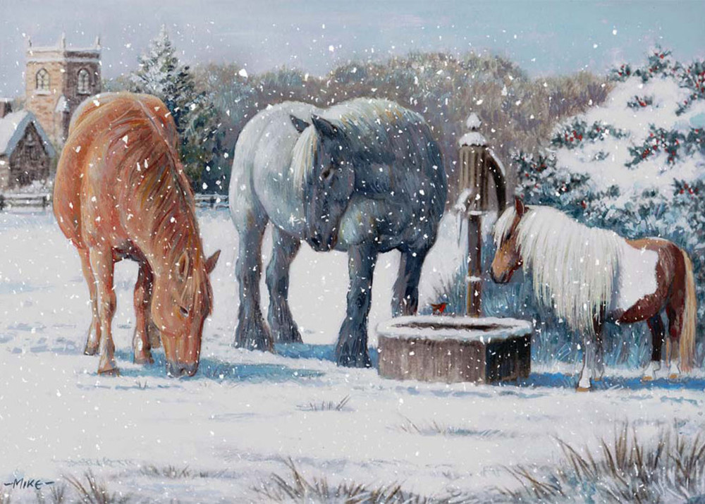 Northcote Heavy Horse Centre Charity Christmas Cards.