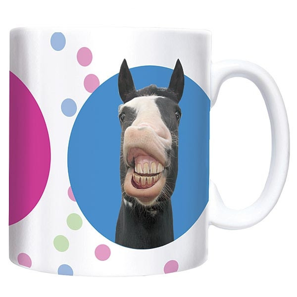 Pucker Up Chuck Mug, great gift for christmas for all ages! Perfect for horse lovers