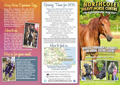 Take a look at our current 2015 visitors leaflet