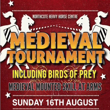 Medieval Tournament in Lincolnshire at Animal Charity Northcote Heavy Horse Centre