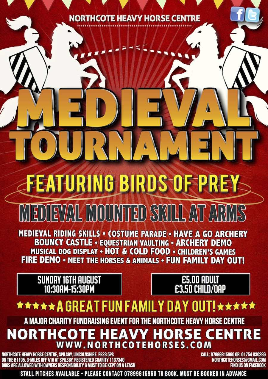 Take the kids this summer in Skegness to Lincolnshire Medieval Tournament at the Northcote Heavy Horse Centre