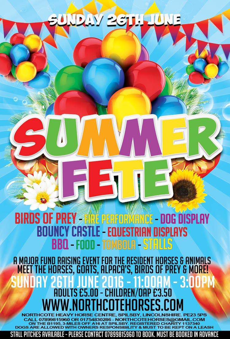 Summer Fete Skegness Lincolnshire Poster