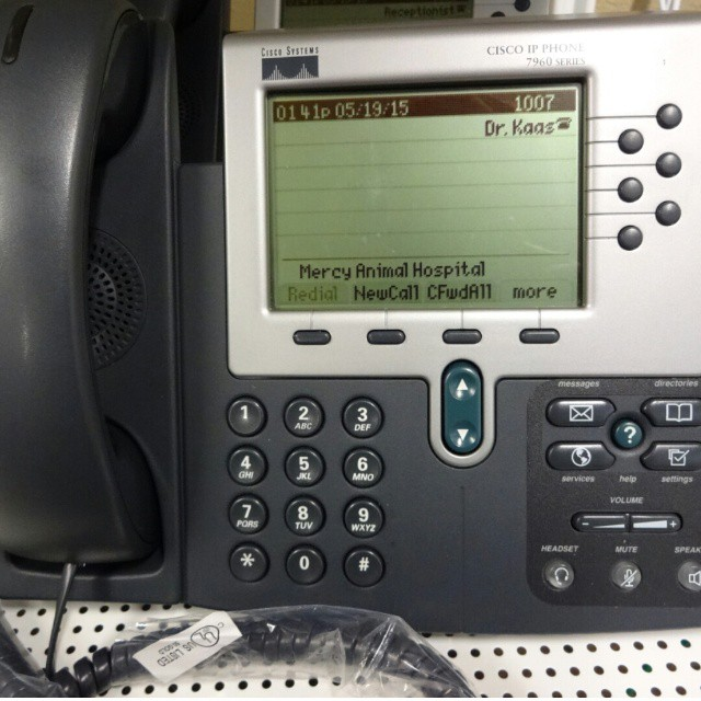 Mercy Animal Hospital.  Merrimack, NH.  The Five Enhanced IP Phone System.  #cisco #voip #phonesystem  http://www.voippbxexpress.com/store/the-five-enhanced