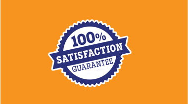 100% Satisfaction guarantee on all our products!
