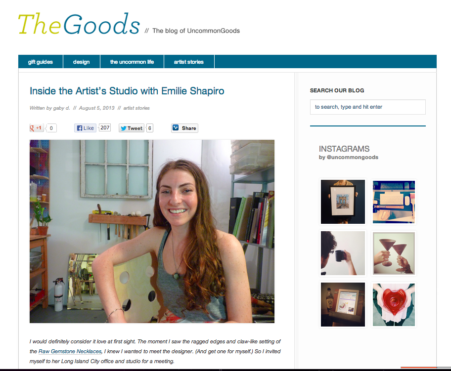 The Goods: Blog of UnCommon Goods