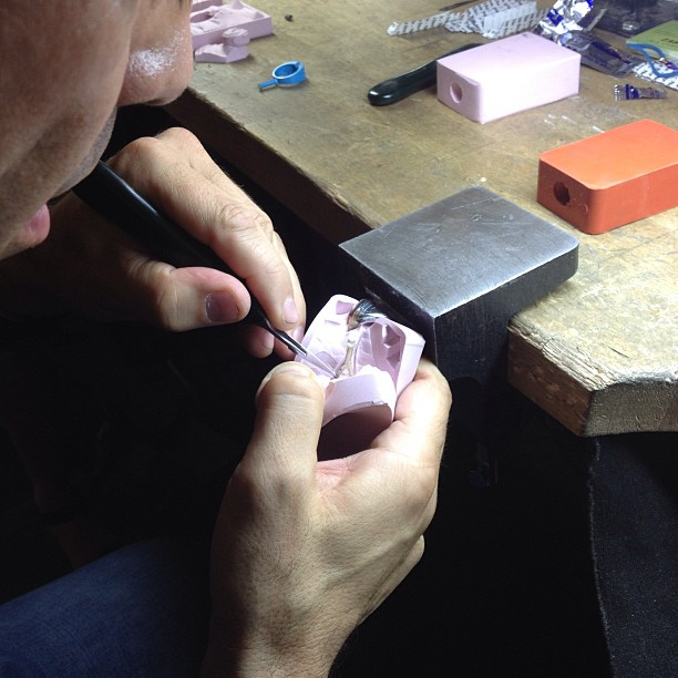 Mold making lessons tonight @liloveve! #jewelry #handmade #brooklyn