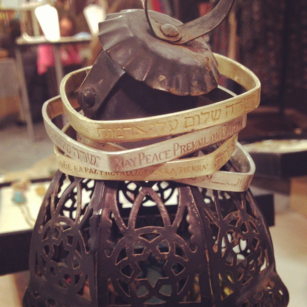Peace pole bracelet on sale at @artistsandfleas at #chelseamarket ! Here until 7 today (at chelsea market)