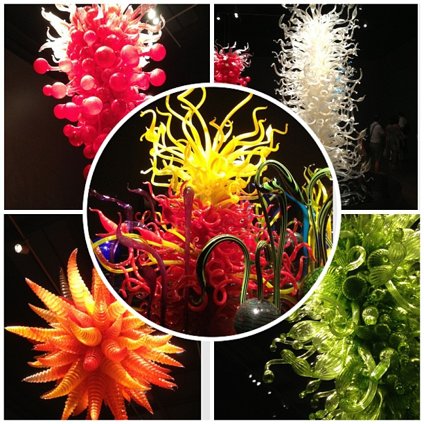 """I haven't found a color I don't like."" -Dale #Chihuly , incredible exhibit in #Montreal"