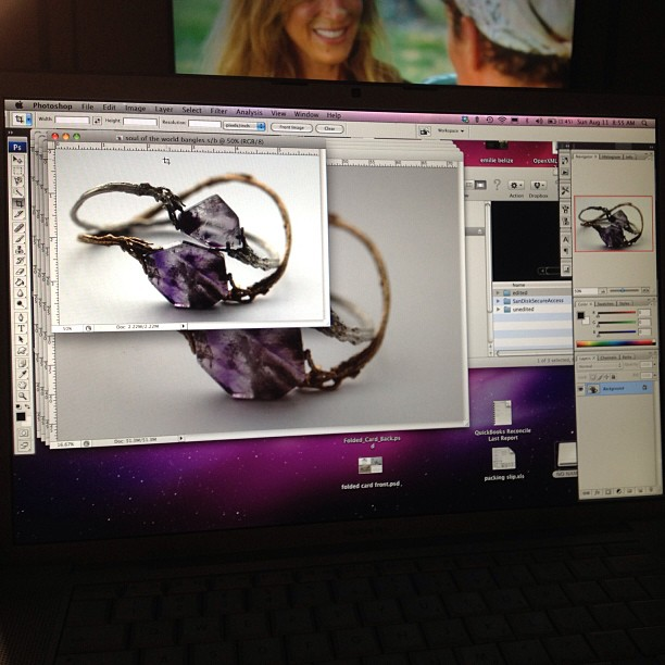 Last minute editing, chick flick & coffee! #sundayfunday #jewelry #nynow #nyigf #booth9183