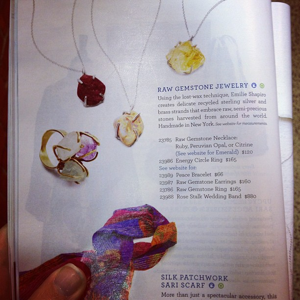 First @uncommongoods catalogue spotting on the subway this morning!! 💎#jewelry #handmade #uncommongoods