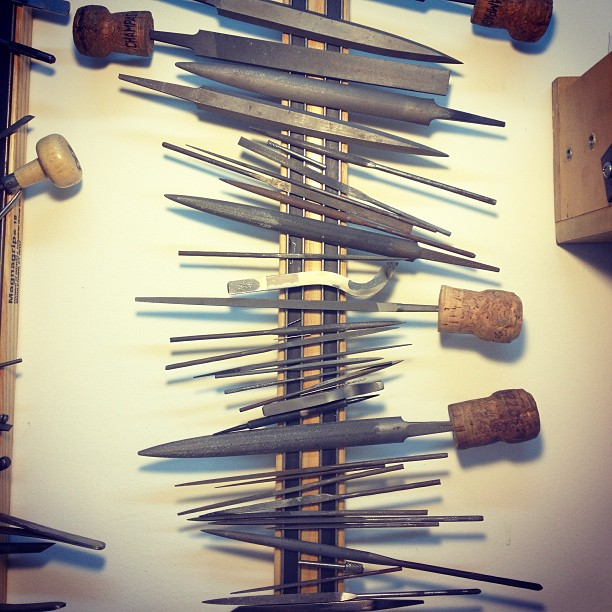 Tools of the trade. What do you work with every day? #jewelry #handmade #studioshot #NYC  (at We Are Here Studio)