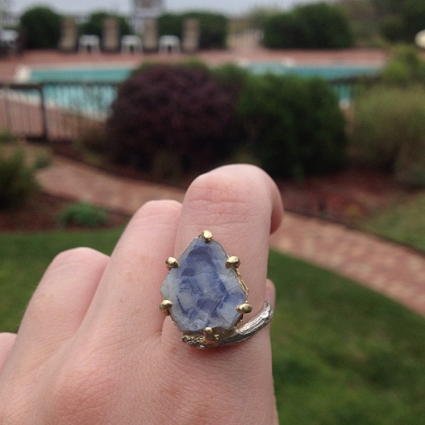 My heirloom #sapphire slice ring is debuting on this hazy Labor Day, hope it's a great day for you too! #fairtrade #gemstone #jewelry #handmade #ldw (at Montauk)