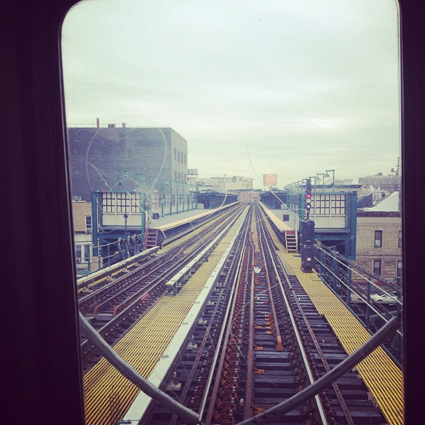 Riding shotgun to #midtown on the 7 train #LIC #nyc #boromag
