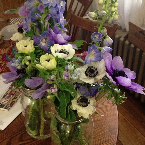 Flower arrangements I made for my Aunts birthday party tonight! #happyspring