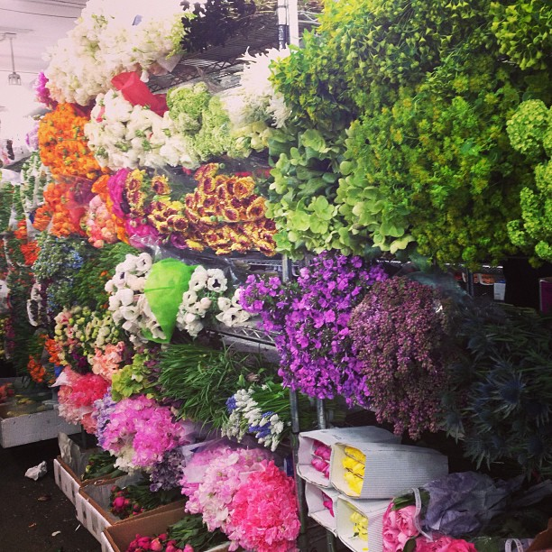 #nyc flower district! A great way to end the week