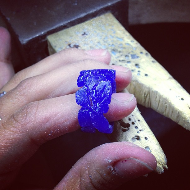 Some work in progress wax carving from the students I'm mentoring (at Liloveve Jewelry & Gallery)