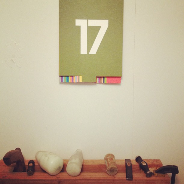 Love my new Calendar that was a gift from @fab.com , a great accessory to my studio #fab #holiday #studioshot #brooklyn