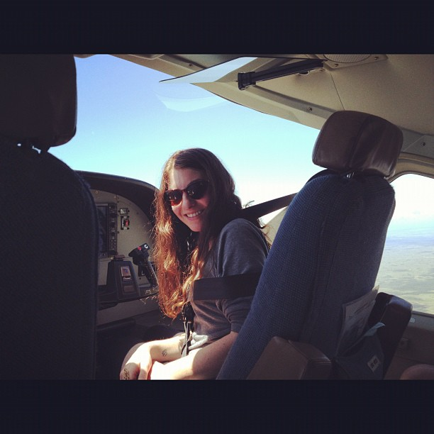 #throwbackthursday me riding shotgun in our teeny tiny plane to Placencia, #Belize #vacation  (Taken with  Instagram )