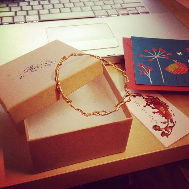 Shipping this beauty off to Singapore! Safe travels my pretty bangle (Taken with  Instagram )