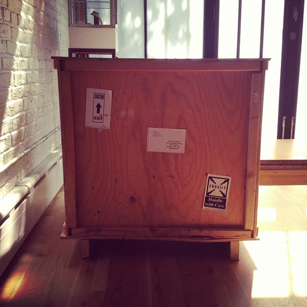 Getting ready for our #SAFETY show opening this Wednesday at @liloveve curated by @youngcassandra - what's in the box?? (Taken with Instagram)