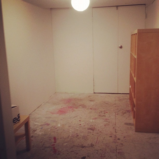 Moving into my new studio space! So exciting having a blank slate, but eek!! Where to start?! (Taken with  Instagram )